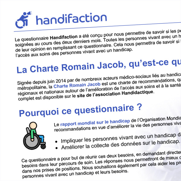Plaquette d'informations Handifaction