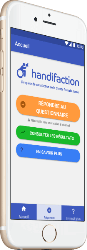 Aperçu de l'application Handifaction
